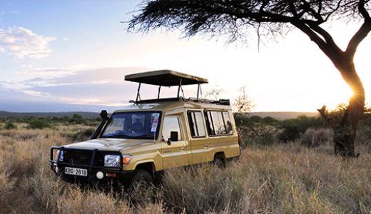 Sundowners in Amboseli National Park, Kenya