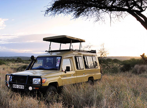 Sundowners in Amboseli National Park, Kenya