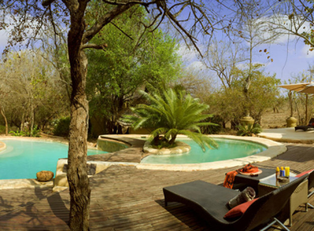 Swimming pool at Ulusaba Safari Lodge
