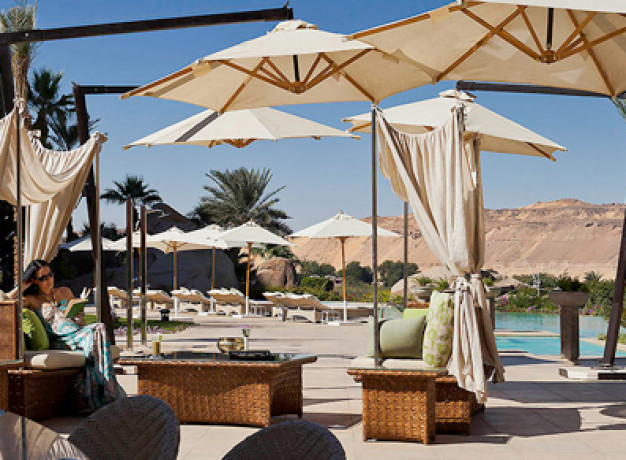 Made famous by Agatha Christie, 5-star Sofitel Legend Old Cataract Aswan Hotel in the Nubian Desert on the banks of the Nile, opposite Elephantine Island, the famous hotel awaits.