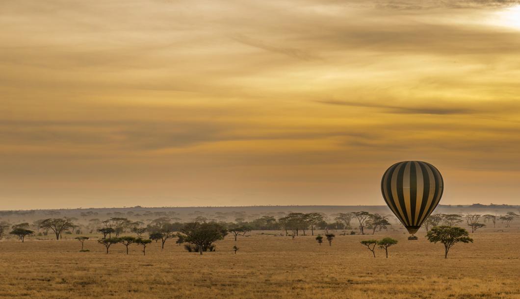 Ballooning over the Serengeti