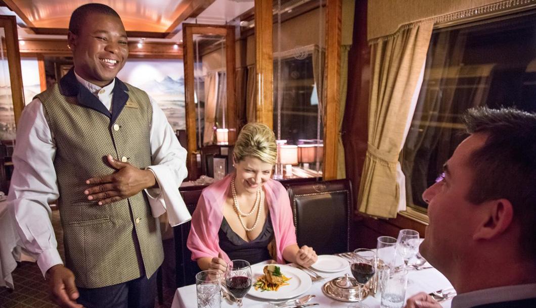 Butler service on board The Blue Train
