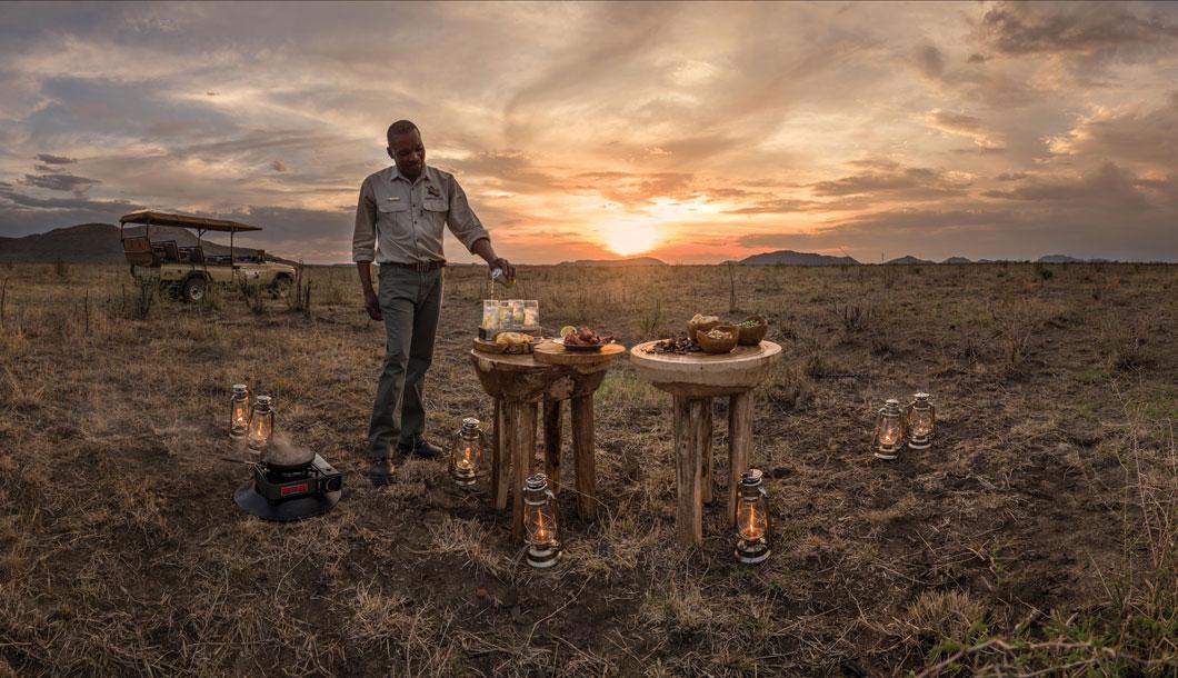 Bush snacks in Madikwe Private Game Reserve