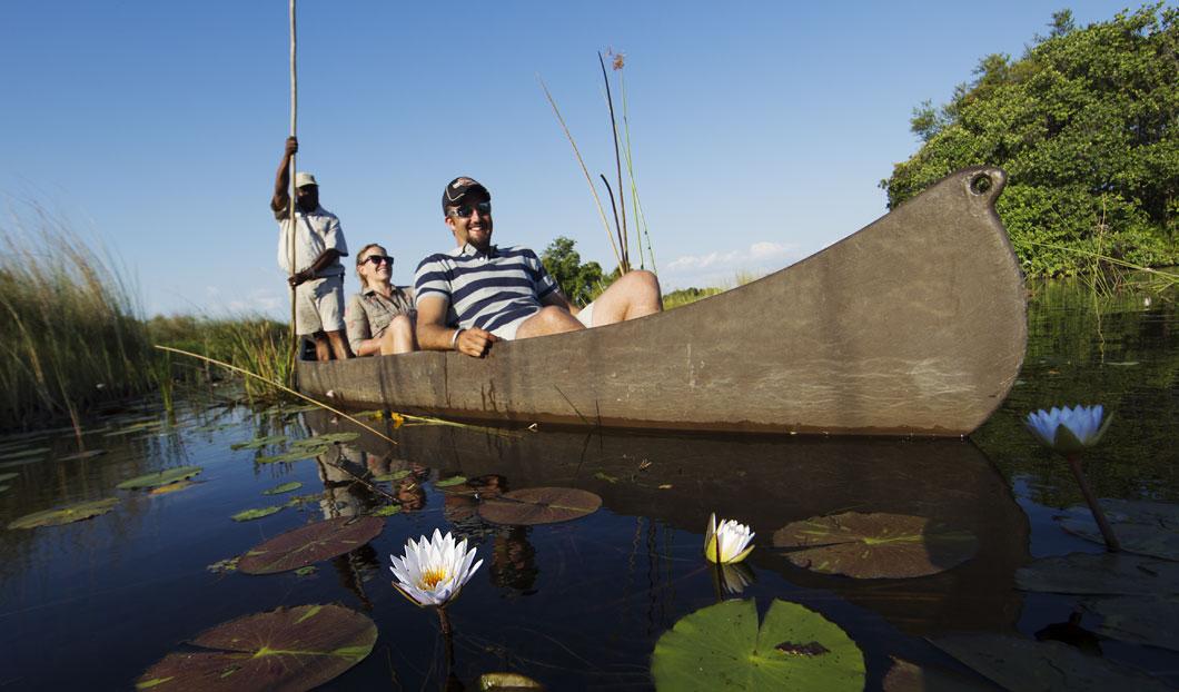 Mokoro (canoe) rides are a wonderfully peaceful way to explore the Okavango Delta