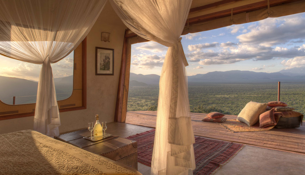 Spectacular views from the villas at Saruni Samburu