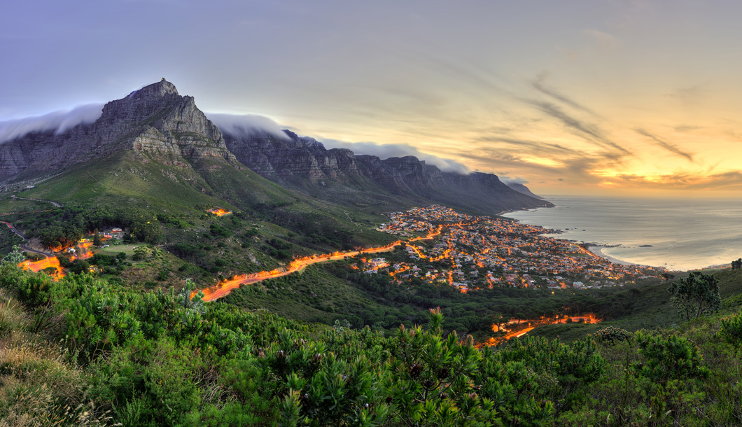 Cape Town's Table Mountain, Lions Head and Twelve Apostles