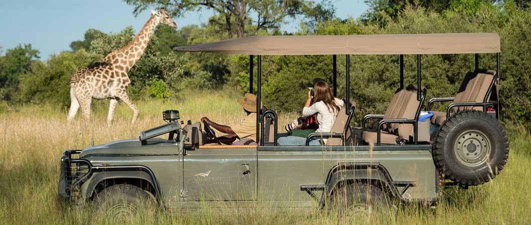 A game drive in Botswana