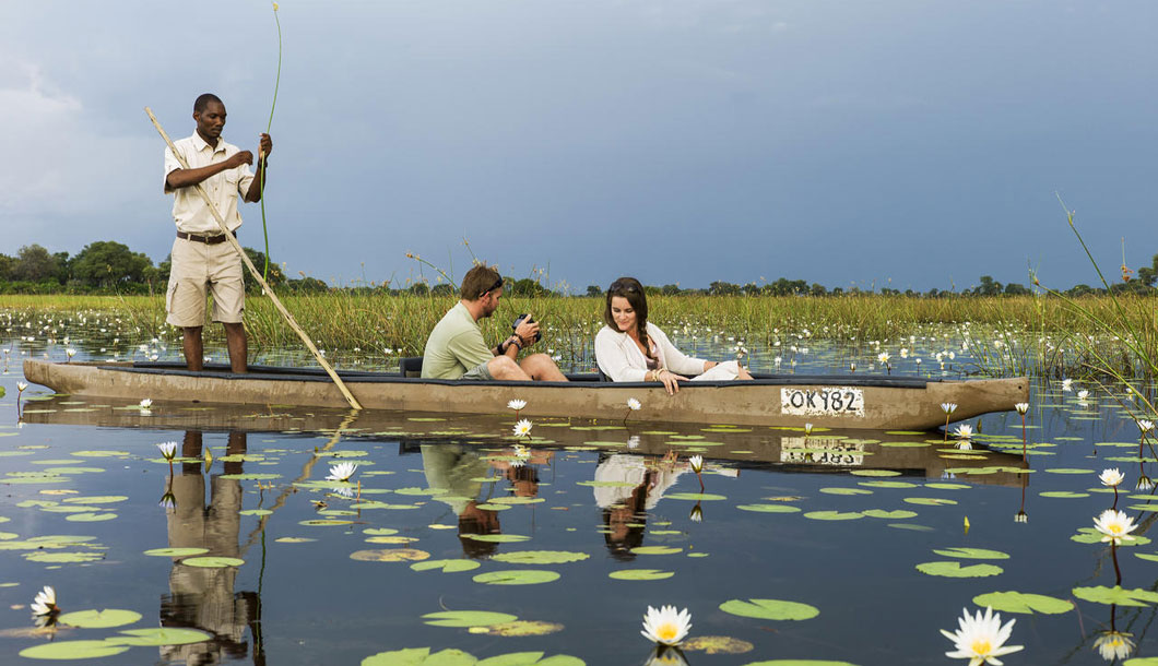 A Scenic Mokoro Ride in the Okavango Delta, Botswana
