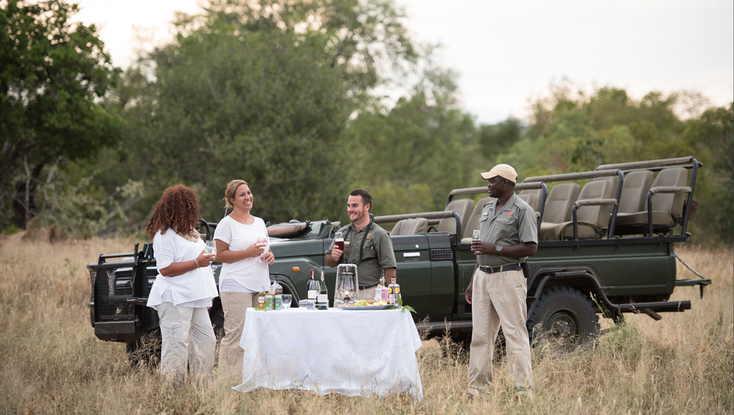 Sundowner in Thornybush Game Reserve
