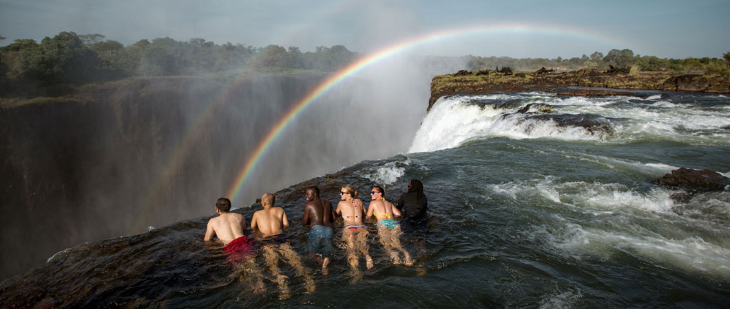 The Devils pool in Zambia