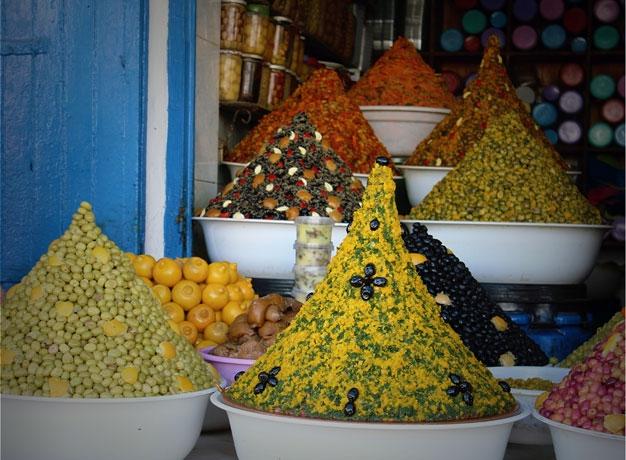 souk in Essaouira, Morocco