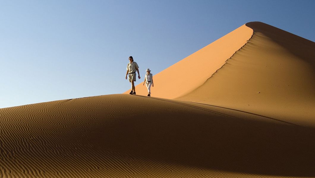 Experience the monumental sand dunes in Namibia