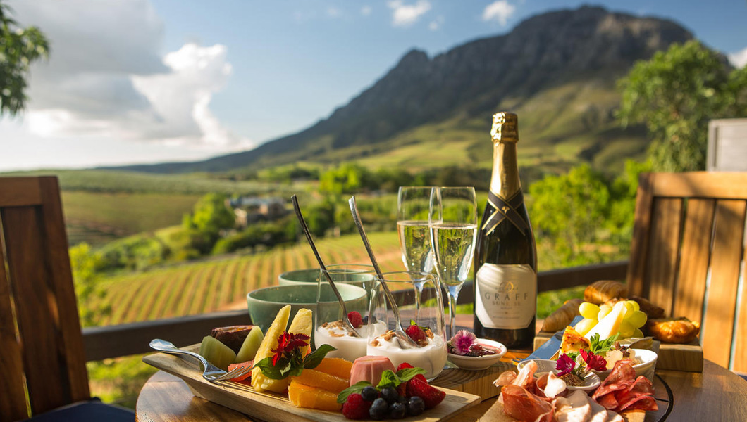 Experience the delectable cuisine and wine in the Cape Winelands