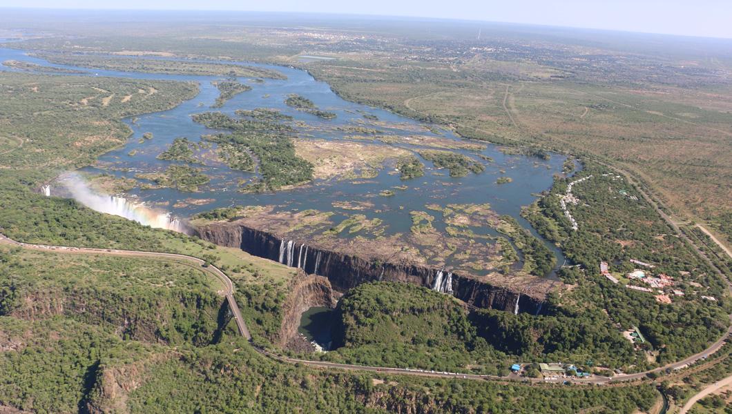 Victoria Falls in January