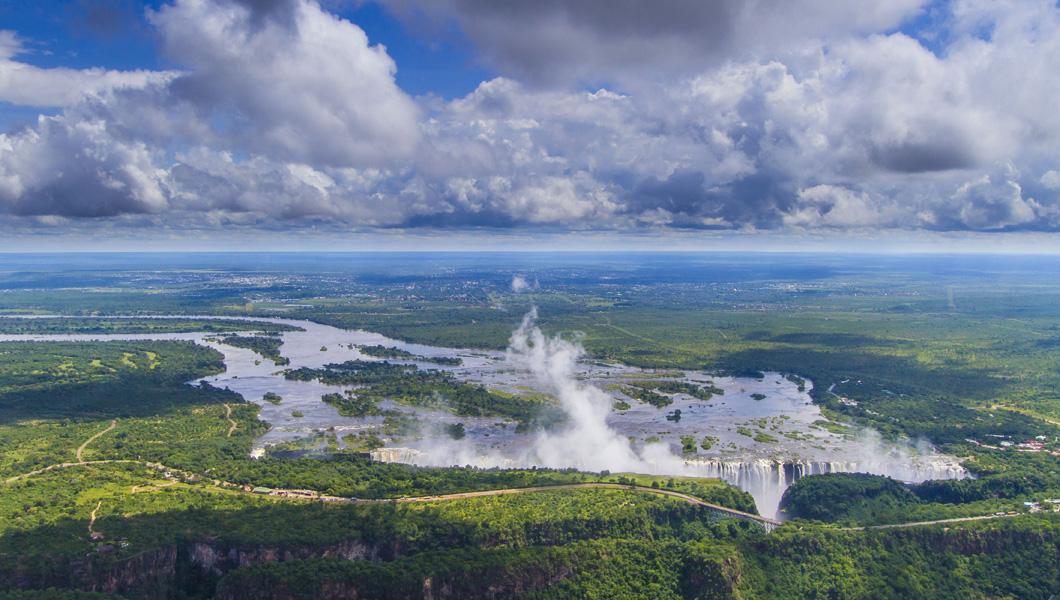 Victoria Falls in March