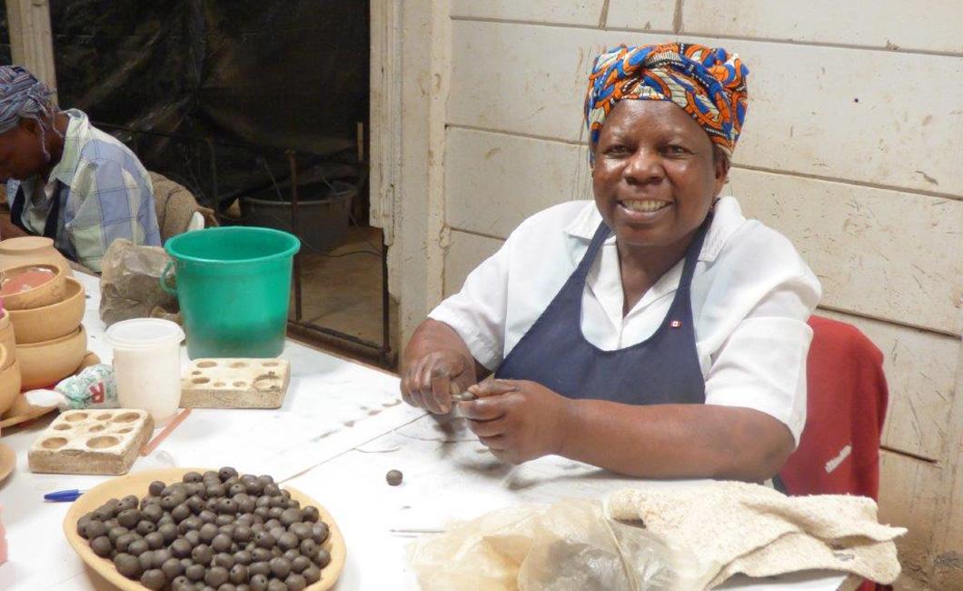 Elizabeth - One of the longest standing staff members at Kazuri