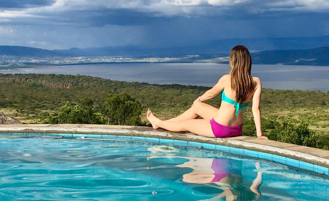 Photo op! Our Swimming Pool Overlooking Lake Nakuru and The Great Rift Valley.