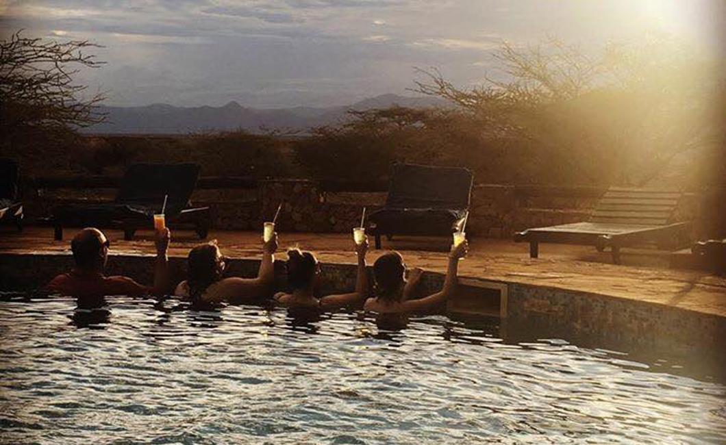 Cocktail hour at Samburu Sopa Lodge :)