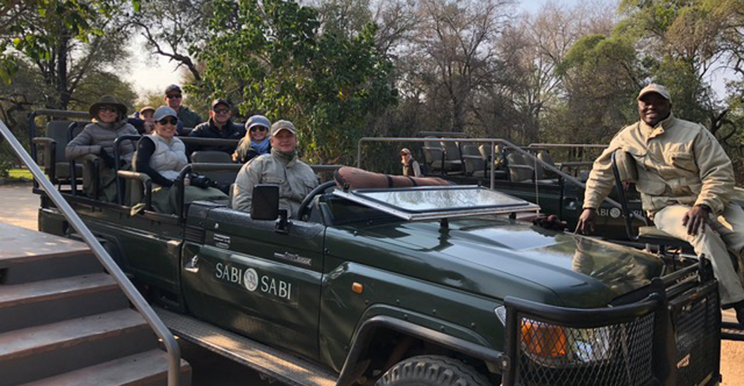 Heading out on a game drive...