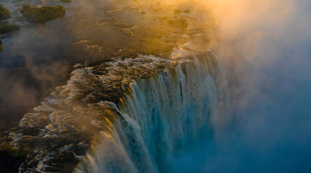 The Victoria Falls In All Its Splendour As It Reaches Its Highest Levels In A Decade