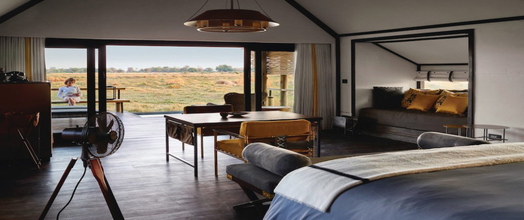 Situated on a private island in the heart of the Okavango Delta, Belmond Eagle Island Lodge brings timeless luxury to the Botswana wetlands. There are 12 tents in total on the island, with each high-ceiling tented room offering ample light, indoor and outdoor showers, a full bath, views of the delta and its own private plunge pool.