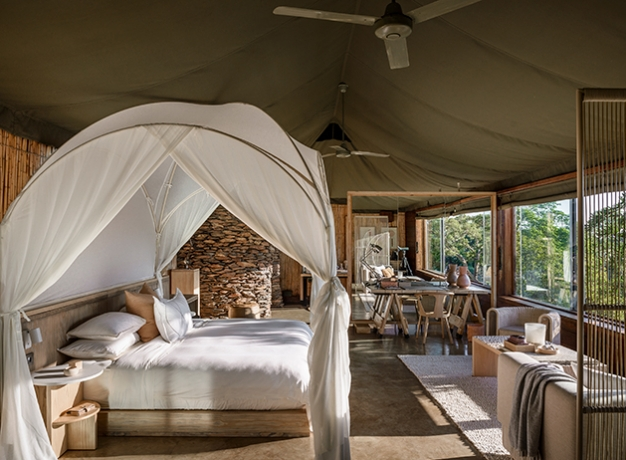 Top 5 Luxe Lodges in Africa From overland camping to luxury lodges there are a variety of options when travelling to Africa. One thing for sure is that African safari travel has come a long way in the past 50 years but hasn't lost any of its romance and adventure. Many of the lodges are reflective of the original safari lodges with their grandeur and opulence whilst others have taken a more modern approach and gone with function and clean, modern lines. Some lodges have really moved down the eco path with properties and vehicles running entirely on renewable energy. All this means is that there is something for everyone.
