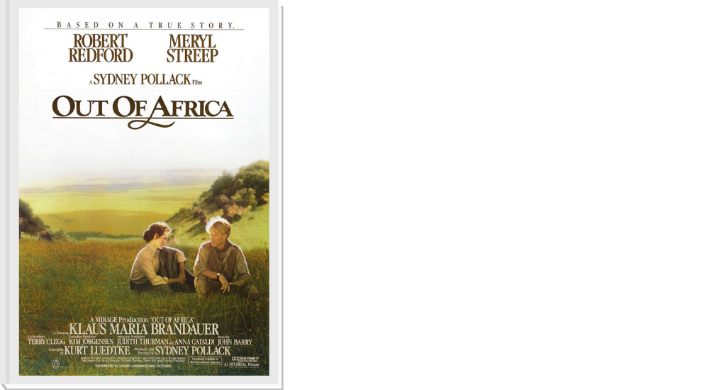 Out of Africa movie - This movie is simply beautiful. The landscapes, the cinematography, the story, all of it! If you have ever thought about travelling to Africa then this is a movie that will make you want to pack your bags right now. And if you have already been? Get ready to fall in love with Africa all over again.
