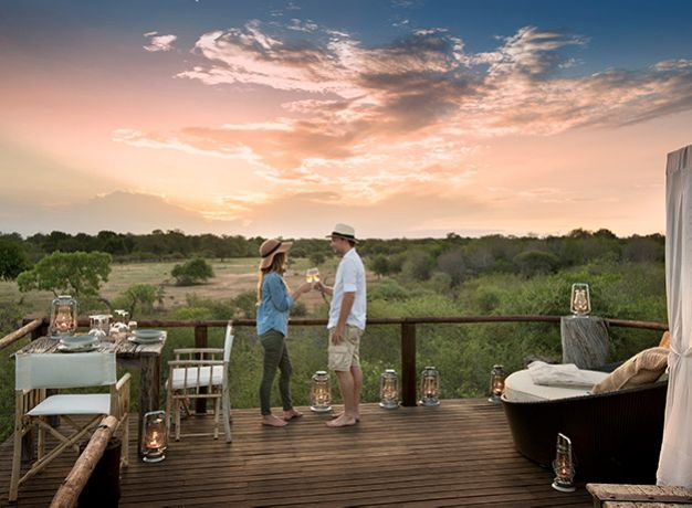 The very essence of safari is romantic, with the exotic wildlife, pristine wilderness and starry night skies, and so most safari properties have been designed to maximise romance. Lodges delight in providing extra special touches such as private bush dinners by candlelight, couple's spa treatments, and turn down services where you might return to your room to find a rose petal bath, candles and champagne. This is pampering at its finest!